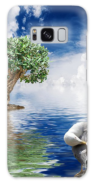 Tree Seagull And Sea Galaxy Case