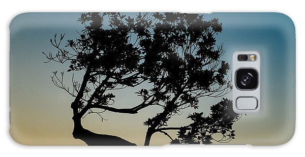Tree Silhouetted Against The Setting Sun Galaxy Case