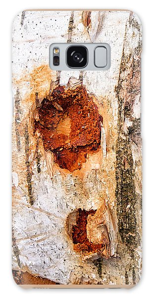 Tree Trunk Closeup - Wooden Structure Galaxy Case