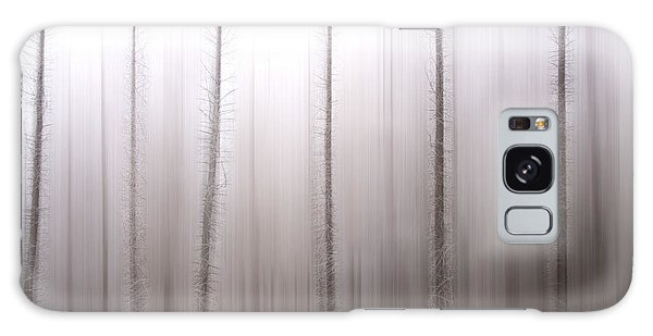 Cold Day Galaxy Case - Tree Trunks by Bernard Jaubert