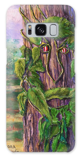Tree With A Leaf Face Landscape Art Galaxy Case