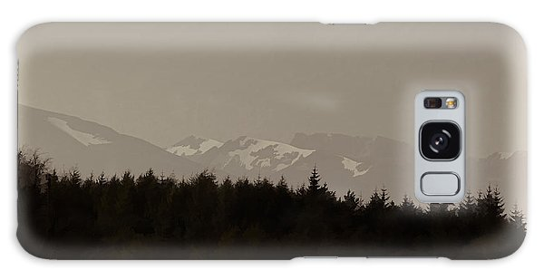 Treeline With Ice Capped Mountains In The Scottish Highlands Galaxy Case