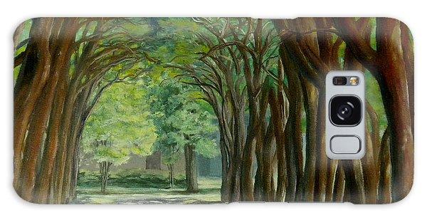 Treelined Walkway At Lsu In Shreveport Louisiana Galaxy Case by Lenora  De Lude