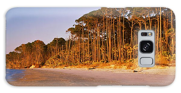 Hunting Island Galaxy Case - Trees Along The Shoreline, Hunting by Panoramic Images