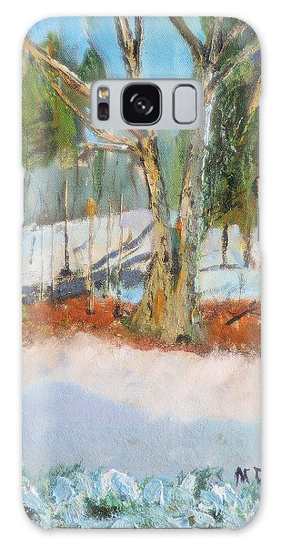 Trees And Snow Plein Air Galaxy Case by Michael Daniels
