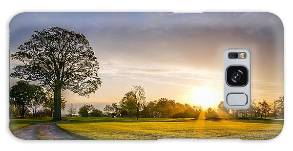 Trees At Dawn On Golf Course Galaxy Case