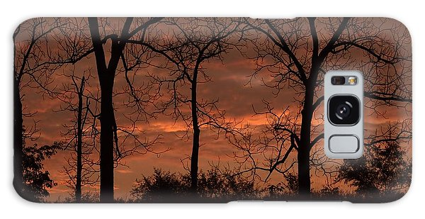 Trees At Sunrise Galaxy Case