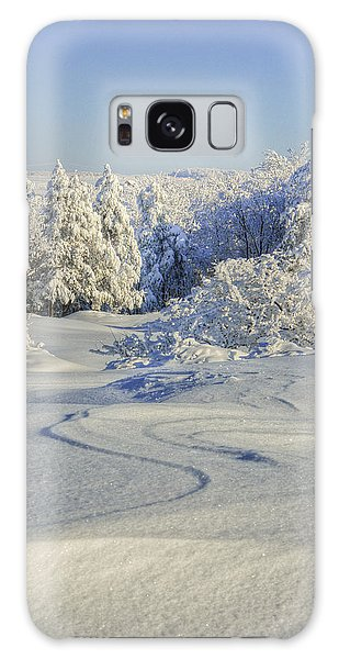 Trees Covered With Snow In A Sunny Winter Day Galaxy Case