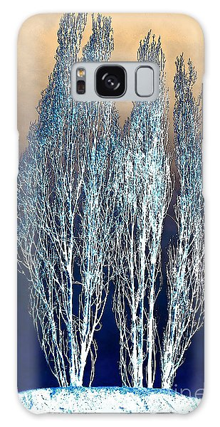 Trees In Snow Galaxy Case by Artist and Photographer Laura Wrede