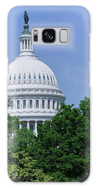 Capitol Building Galaxy S8 Case - Trees In Spring And U.s. Capitol Dome by Panoramic Images