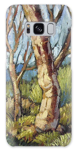 Trees In Spring Galaxy Case