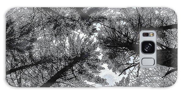 Trees In Winter Galaxy Case