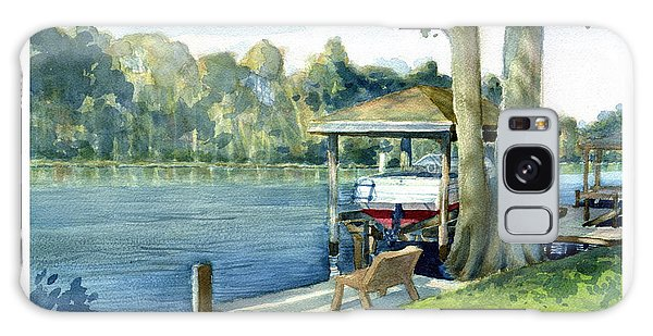 Trent River Boathouse Galaxy Case
