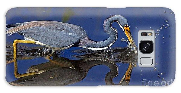 Tri Color Heron Splash Galaxy Case