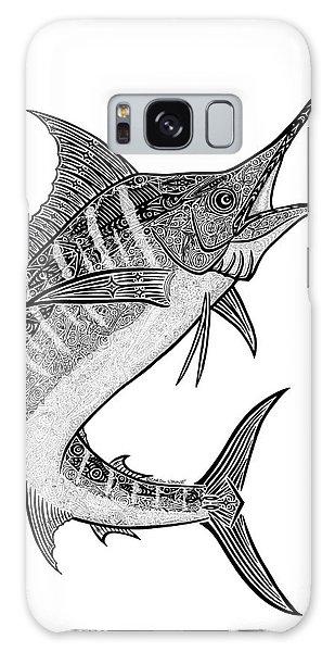 Sport Art Galaxy Case - Tribal Marlin IIi by Carol Lynne