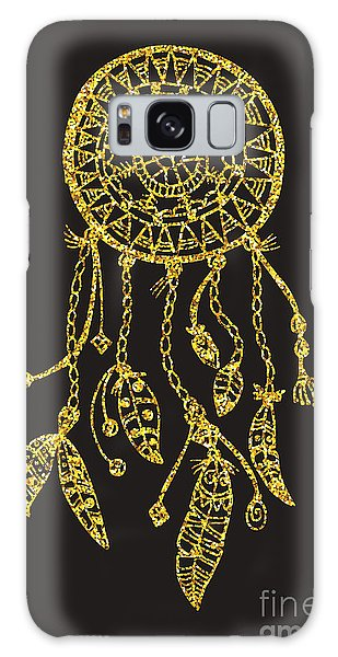 Feathers Galaxy Case - Tribal Vector Dream Catcher With by Qilli