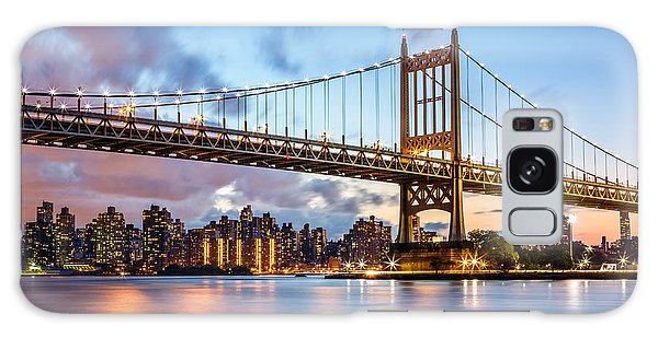 Triboro Bridge At Dusk Galaxy Case