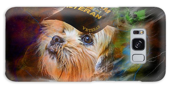 Galaxy Case featuring the digital art Tribute To Canine Veterans by Kathy Tarochione