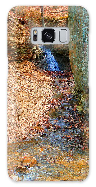 Trickling Waterfall By Shellhammer Galaxy Case