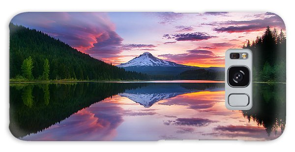Trillium Lake Sunrise Galaxy Case