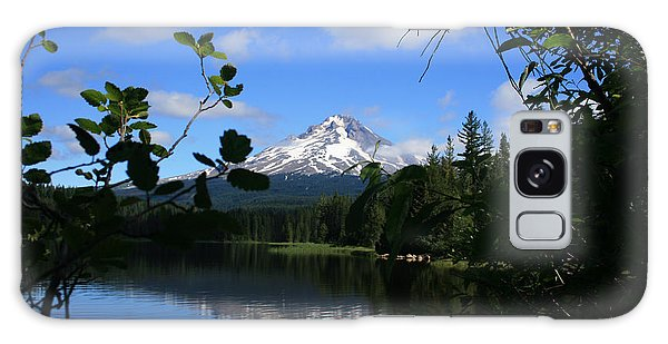Trillium Lake With Mt. Hood  Galaxy Case by Ian Donley