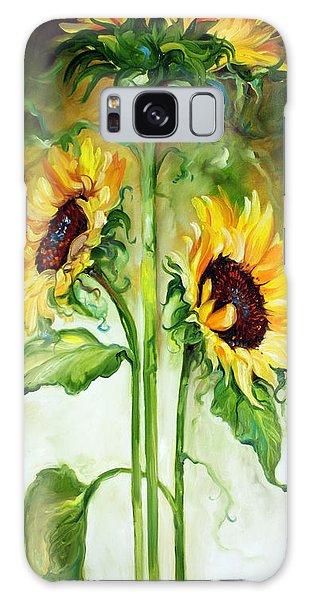 Triple Sunny Sunflowers Galaxy Case