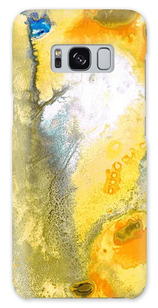 Gold Galaxy Case - Triumph - Yellow Abstract Art By Sharon Cummings by Sharon Cummings