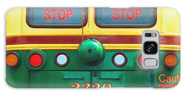 Trolley Car - Digital Art Galaxy Case