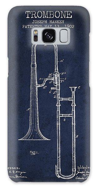 Trombone Galaxy Case - Trombone Patent From 1902 - Blue by Aged Pixel