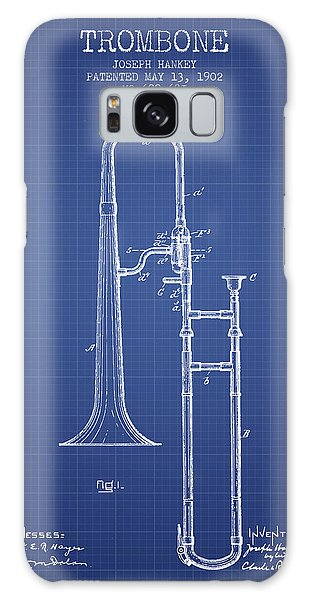 Trombone Galaxy S8 Case - Trombone Patent From 1902 - Blueprint by Aged Pixel