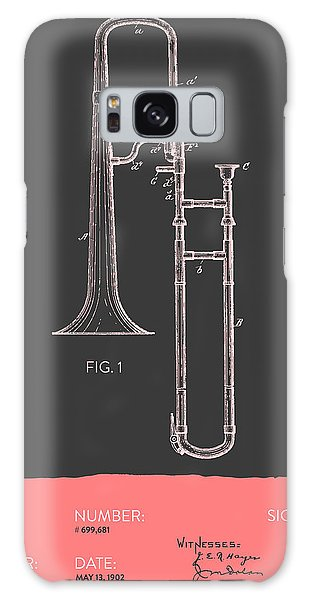 Trombone Galaxy Case - Trombone Patent From 1902 - Modern Gray Salmon by Aged Pixel