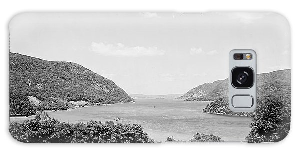Trophy Point North Fro West Point In Black And White Galaxy Case