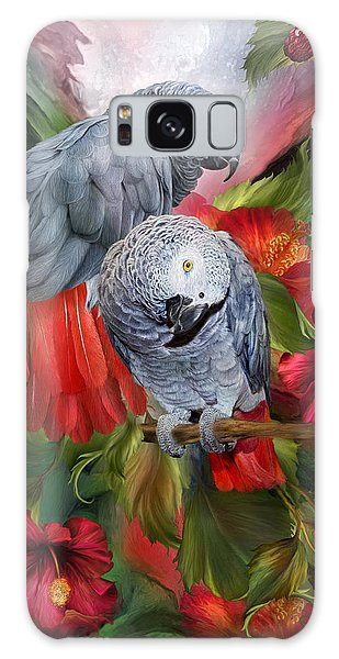 Parrot Galaxy S8 Case - Tropic Spirits - African Greys by Carol Cavalaris