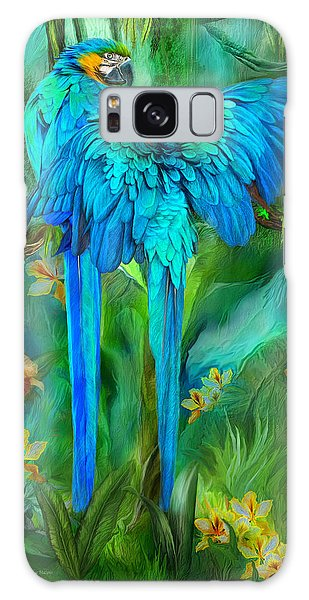 Tropic Spirits - Gold And Blue Macaws Galaxy S8 Case