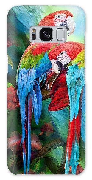 Tropic Spirits - Macaws Galaxy Case
