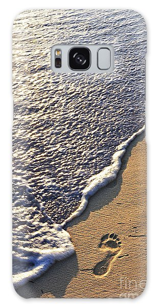 Tropical Beach With Footprints Galaxy Case