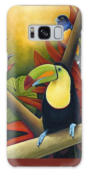 Toucan Galaxy S8 Case - Tropical Birds by Nathan Miller