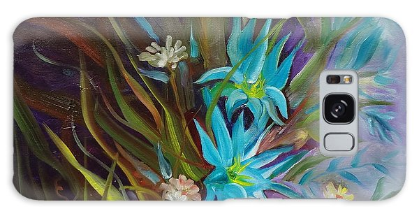 Tropical Blue Galaxy Case by Jenny Lee