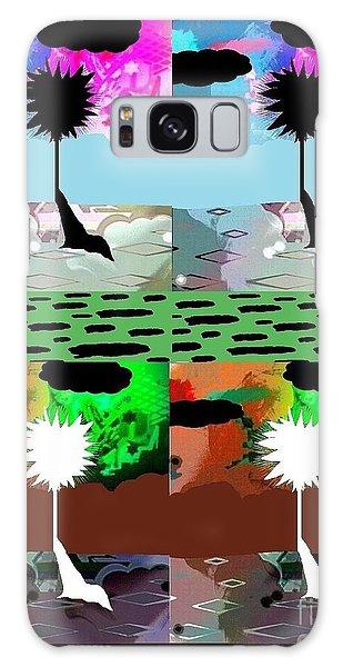 Tropical Daze 2 Galaxy Case by Ann Calvo