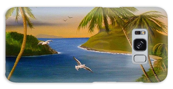 Tropical Escape Galaxy Case by Sheri Keith