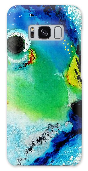 Tropical Fish 2 - Abstract Art By Sharon Cummings Galaxy Case