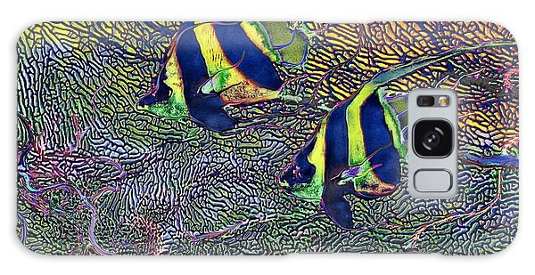 Coral Reef Tropical Fish Colorful Water Art Galaxy Case by David Mckinney