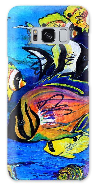 Tropical Fish Galaxy Case by Karon Melillo DeVega