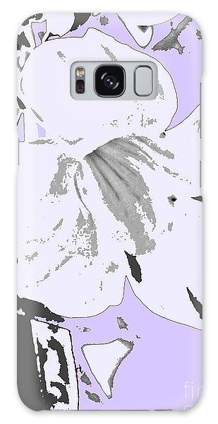 Tropical Floral Violet Black Galaxy Case