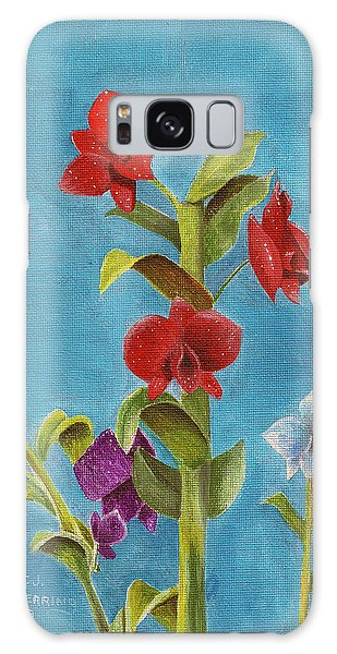 Galaxy Case featuring the painting Tropical Flower by Thomas J Herring