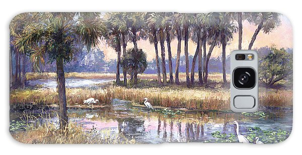 Herons Galaxy Case - Tropical Friends by Laurie Snow Hein