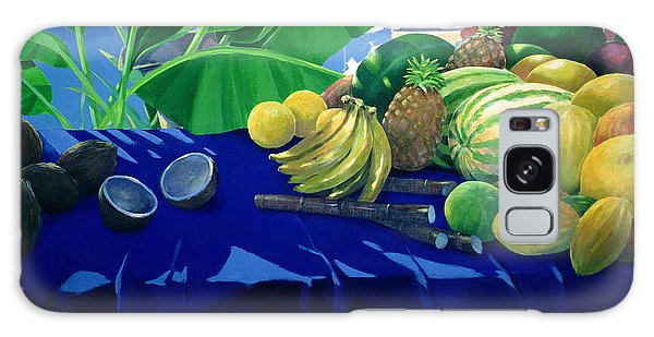 Tropical Fruit Galaxy Case by Lincoln Seligman