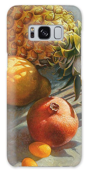 Tropical Fruit Galaxy Case by Mia Tavonatti