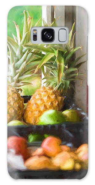 Tropical Fruitstand Galaxy Case