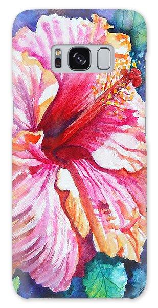Tropical Hibiscus 4 Galaxy Case